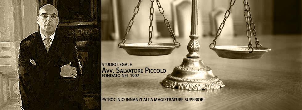 Sito web dell´Avv.Salvatore Piccolo -  Sparanise (CE)